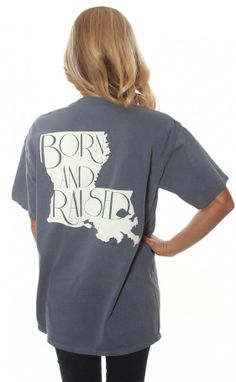 Riffraff | born & raised tee - Louisiana [blue]