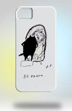 Cat iPhone Case- Be Brave. $65.00, via Etsy.