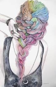 Resultado de imagen para mujer con mariposas pintura