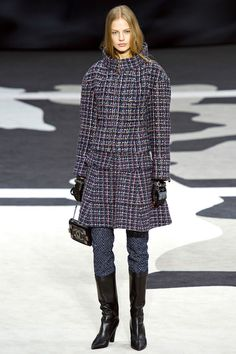 Chanel Fall/Winter 2013 Ready-to-Wear Collection via Designer Karl Lagerfeld / Modeled by Elisabeth Erm