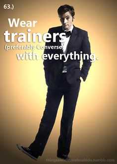 Things a Whovian Should do; wear trainers with everything