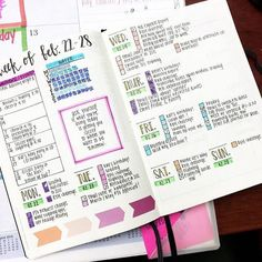 week at a glance -- 12 Layout Ideas You'll Want to Steal for Your Bullet Journal