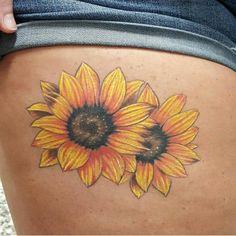 """42 Likes, 5 Comments - tattWHO.ink (@tattwho) on Instagram: """"Sunflowers - Rusty Estill @rustyknife79 - 729 Granby St, Norfolk, VA #tattoo #tattooartist #tattwho…"""""""
