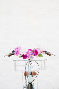 Floral Bicycle Handlebars