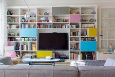 Un meuble télé très coloré Reportage JDF - réalisation MyHomeDesign