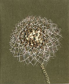 embroidered dandelion