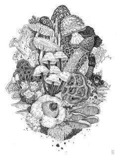 psychedelic mushroom printables - Google Search