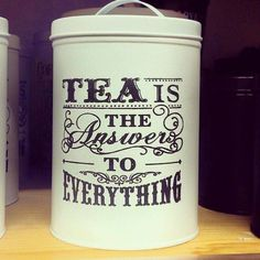 EVERYTHING TEA:   Tea Canister / https://www.facebook.com/152299044931075/photos/a.152308258263487.1073741828.152299044931075/363472647147046/?type=1