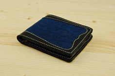 Coin pocket wallet Denim wallet Mens wallet Slim wallet Minimal wallet Genuine leather wallet Credit card wallet Card holder wallet