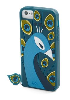 Posh Reception iPhone 5/5S Case. Prepare to be flocked by cheerful chirps of flattery when your friends spy this stylish case on your smartphone! #blue #modcloth
