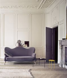 white, purple and grey: modern and majestic meet