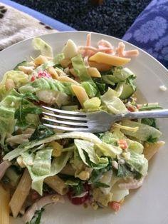 Homemade Recepten: Salade met kip & penne