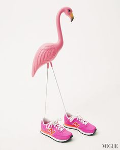 #Neon #Flamingo #Design #Art #Props #Sneakers #Pink #Style #Fashion #Editorial #BiographyInspiration