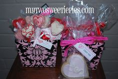 valentine's day personalised cake pops and sugar cookies