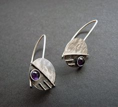 Sterling Silver Earrings with Amethyst EA8 por Kailajewellery