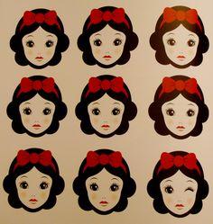 "koolikeplastic: ""bowfolk:poisoned-apple: Snow White - The art of the Dinsey…"