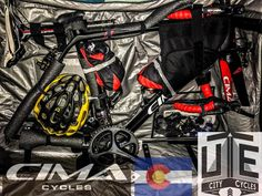 The important stuff is #packed now for The clothes. #cimacycles are amazing and #madefortheride in #aspen #colorado fosho. 3 days and counting. If your looking for the #ultimate #bike to #race or #ride this is it. U will see it soon on the #pro #tour. #tourdefrance in the coming #years