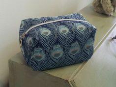 Cosmetic bag made Caesar print