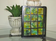 Green Paper Tile Altered Composition Notebook by Ratchetnous123