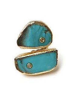 turquoise ring. how unique.