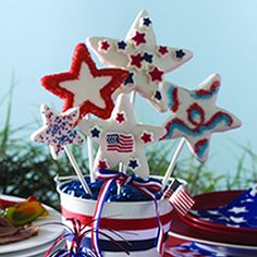 Patriotic Pizzazz Cookie Pops