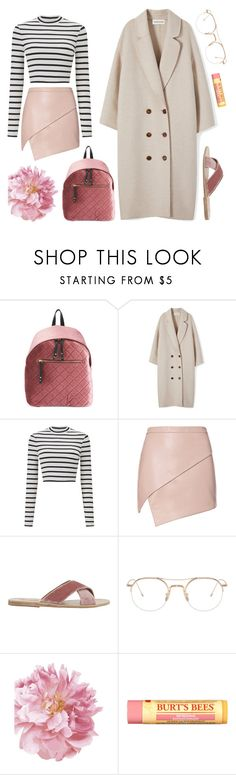"""""""hate this part, paper hearts"""" by lmfab ❤ liked on Polyvore featuring Miss Selfridge, Michelle Mason, Ancient Greek Sandals, Thom Browne, Burt's Bees and MyFaveTshirt"""