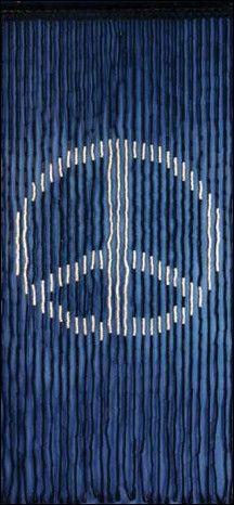 Peace Sign   Black   Wooden Door Beads