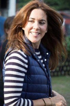 HRH Crown Princess Mary as well as other Danish celebrities visit the Roskilde Festival to watch the Rolling Stones perform. Roskilde, 03.07.2014.