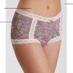 #corsages - Printed micro hotpants Bow at center front External label. The model is 175 cm tall and wears a size 1. 219M-829 Take best care of your garment wash with similar colours.... Odd Molly, Minimiser Bra, Beanie, Cream Blush, Satin Material, Models, Bra Lingerie, Hot Pants, Lace Bra