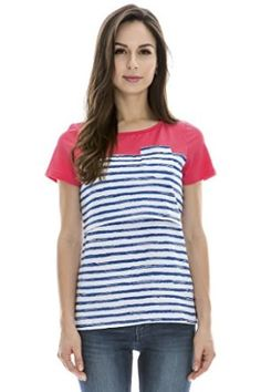Bearsland Maternity Women's Patchwork Striped Maternity Nursing Tops at Amazon Women's Clothing store: