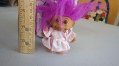 "Vintage Russ 3"" TROLL GIRL Doll - Purple Hair - Pink Satin & Tulle Dress | Dolls & Bears, Dolls, By Type | eBay!"