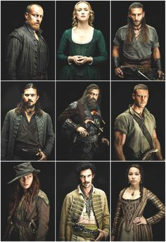 Black Sails Cast Toby Stephens Luke Arnold 9 Beautiful Printed Photos 10x15cm from $9.0