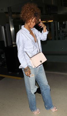 Rihanna is the new face of the Christian Dior Diorama Bag, so it's not surprising that she's been caught carrying a couple variations of the design over the past six months--it's part of the job. Lately, though, she's stuck on a particular light pink version, and it's not particularly difficult to see why. Rihanna endorses a lot of things, but her look changes so quickly that it's somewhat rare to see her wear or carry a particular item more than once or twice in quick succession. To see…