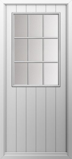 Composite door, Cottage grill in white. High quality, secure and in your choice of colours! Check out our new extended range and design your new composite door today with Just Value Doors.