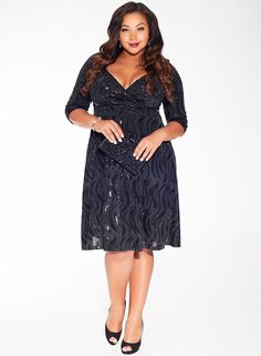 Francesca Sequin Dress $198.00 - Perfect Plus Size New Years Dress!