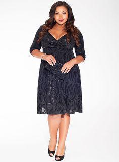 IGIGI - Francesca Dress in Sequin #ShinnyShimmey #LittleBlackDress #PlusSizeFormals #IGIGIFashion2014 $198.00