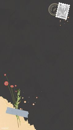 Red flower on dark mobile phone wallpaper vector premium image by nunny Framed Wallpaper, Flower Background Wallpaper, Cute Wallpaper Backgrounds, Flower Backgrounds, Cute Wallpapers, Interesting Wallpapers, Phone Wallpapers, Pretty Wallpapers For Iphone, Handy Wallpaper