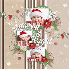 Image result for baby's first christmas scrapbook layout