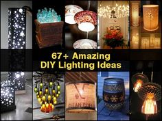If you are in need of some inspiration for your next DIY project. You need to check out this collection of 67 lighting ideas for you to do in your home. They have all sorts of lamps, from stand alone to wall mount , from chandeliers to garden lighting. An outstanding collection of inspiring lighting ideas for your next DIY project. Lighting fixtures are a very important part of your home d