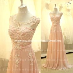 Custom Blush Pink Bridesmaid Dress Long by FormalDressStore, $139.00. =O