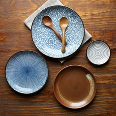Guaranteed 100% Crackle glaze dinnerware sets Japanese ceramic tableware Painting ceramic dishes with Ring pattern