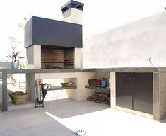 Galería – Chimeneas Carmelo Blanco Outdoor Grill Area, Outdoor Barbeque, Patio Grill, Bbq Area, Parrilla Exterior, Barbecue Design, Backyard Patio Designs, Outdoor Kitchen Design, Luxury Kitchens