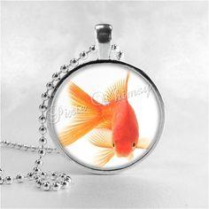 Goldfish Gold Fish Art Glass Pendant Necklace Charm Handmade Jewelry | eBay