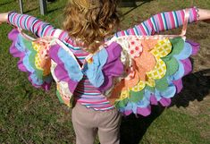 Butterfly wings. Super cute idea to make for our dress-up box.  Would be great to do with The Very Hungry Caterpillar FIAR