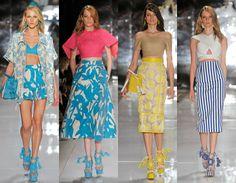 Tendências Verão 2015 - Listras, estampas, texturas e cores