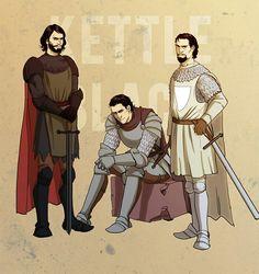 Kettleblacks: Osfryd, Osney, and Osmund by Pojypojy
