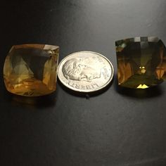 Natural Ametrine has the pit for earrings. Natural Ametrine naturally occurring variety of quartz. It is a mixture of amethyst and citrine with zones of purple and yellow or orange. has the pit for earrings. I purchased on E-Bay they are 6cts t.w. They are too big for me. Jewelry