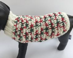 Vday Dog Sweater Crochet Pet Sweater Valentines by KadieCrochets