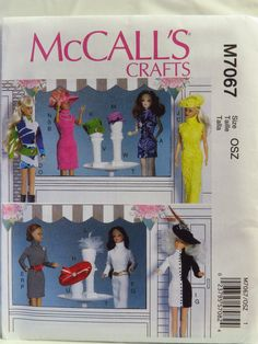 "McCall's 7067 Clothes and Accessories for 11½"" Doll"