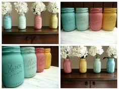 True Event-Beach Blues, mason jars, color and DIY (www.trueevent.com)